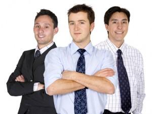 confident male business team